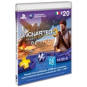 SONY PSN Card: Uncharted 3, 20 Eu, IT