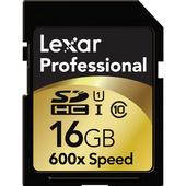 LEXAR 16GB Professional 600x SDHC UHS-I