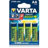 VARTA Longlife Accus AA 2100 mAh, 4-Pack