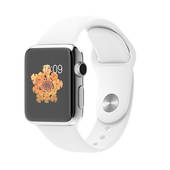 APPLE Watch Sport 38 mm Steel White