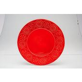TOGNANA PORCELLANE Piatto piano Coimbra rosso 27 cm