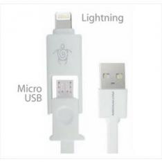 MEDIACOM 2 in 1 USB cable - Lightning/micro USB